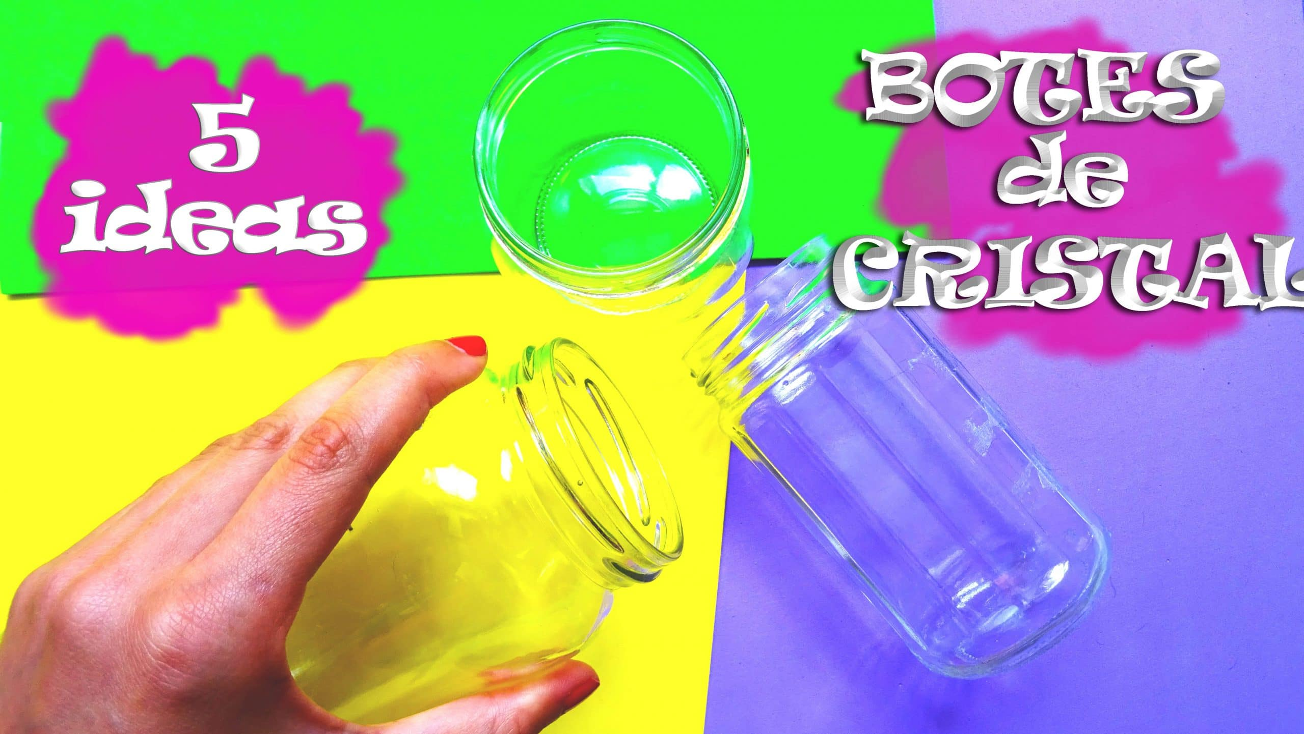 Manualidades con vidrio manualidades on - Manualidades con botes de cristal ...