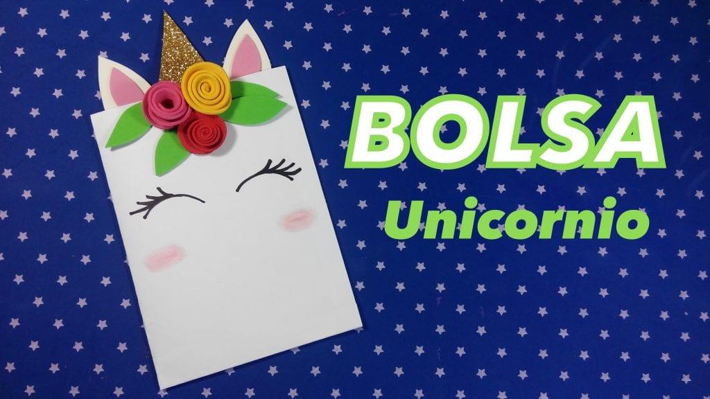 Bolsa de unicornio para decorar fiestas con chuches - Como decorar bolsas de papel ...