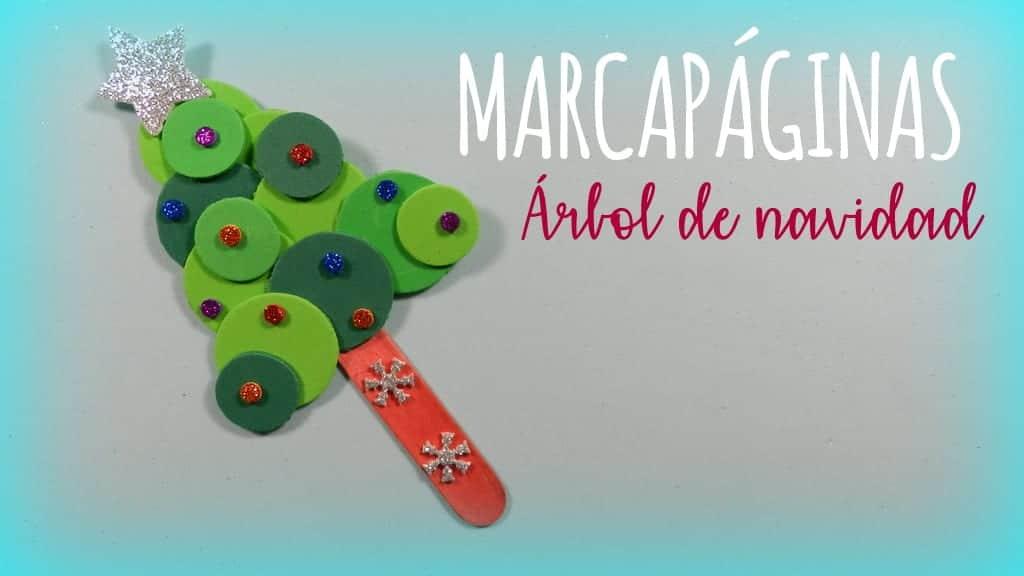 Marcapaginas De Arbol De Navidad Con Goma Eva Para Ninos