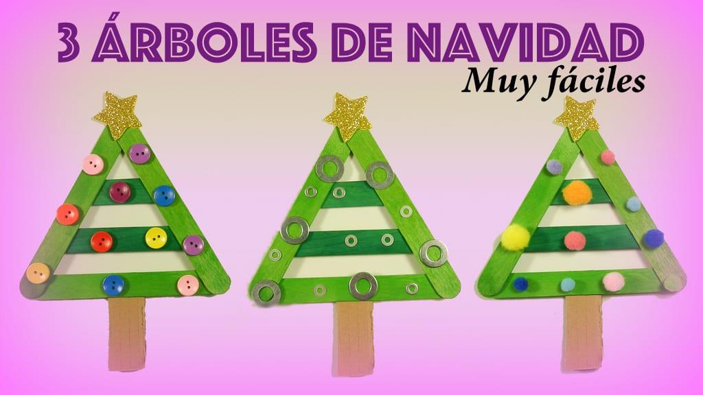 3 árboles De Navidad Muy Fáciles Para Hacer Con Niños