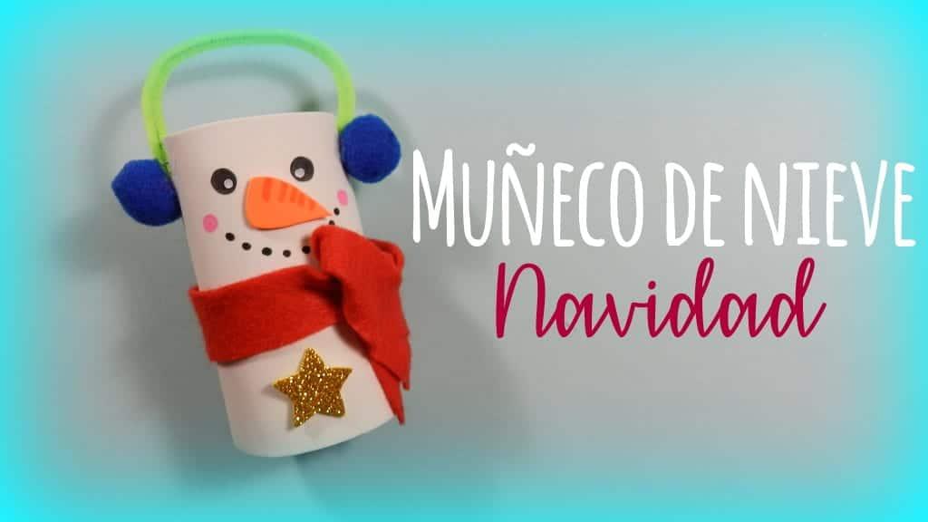 Muñeco de nieve cartón