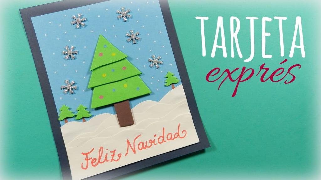 Tarjeta de navidad muy f cil para realizar con ni os - Tarjeta de navidad para ninos manualidades ...