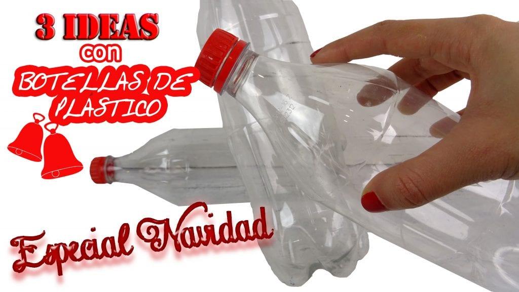 3 ideas para reciclar botellas de pl stico o botellas pet for Adornos navidenos reciclados botellas