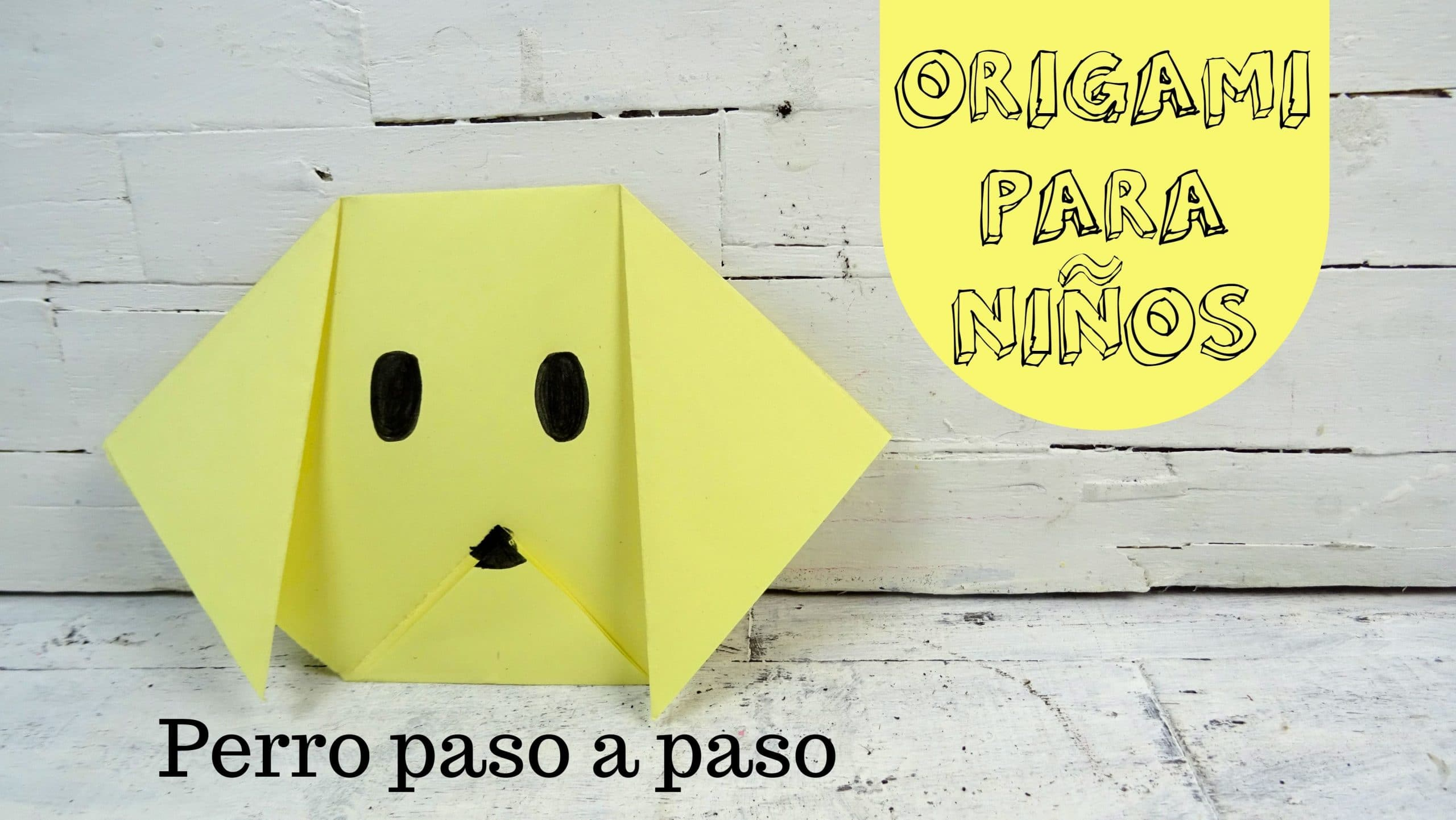 origami para niños cómo hacer un perro de papel paso a paso