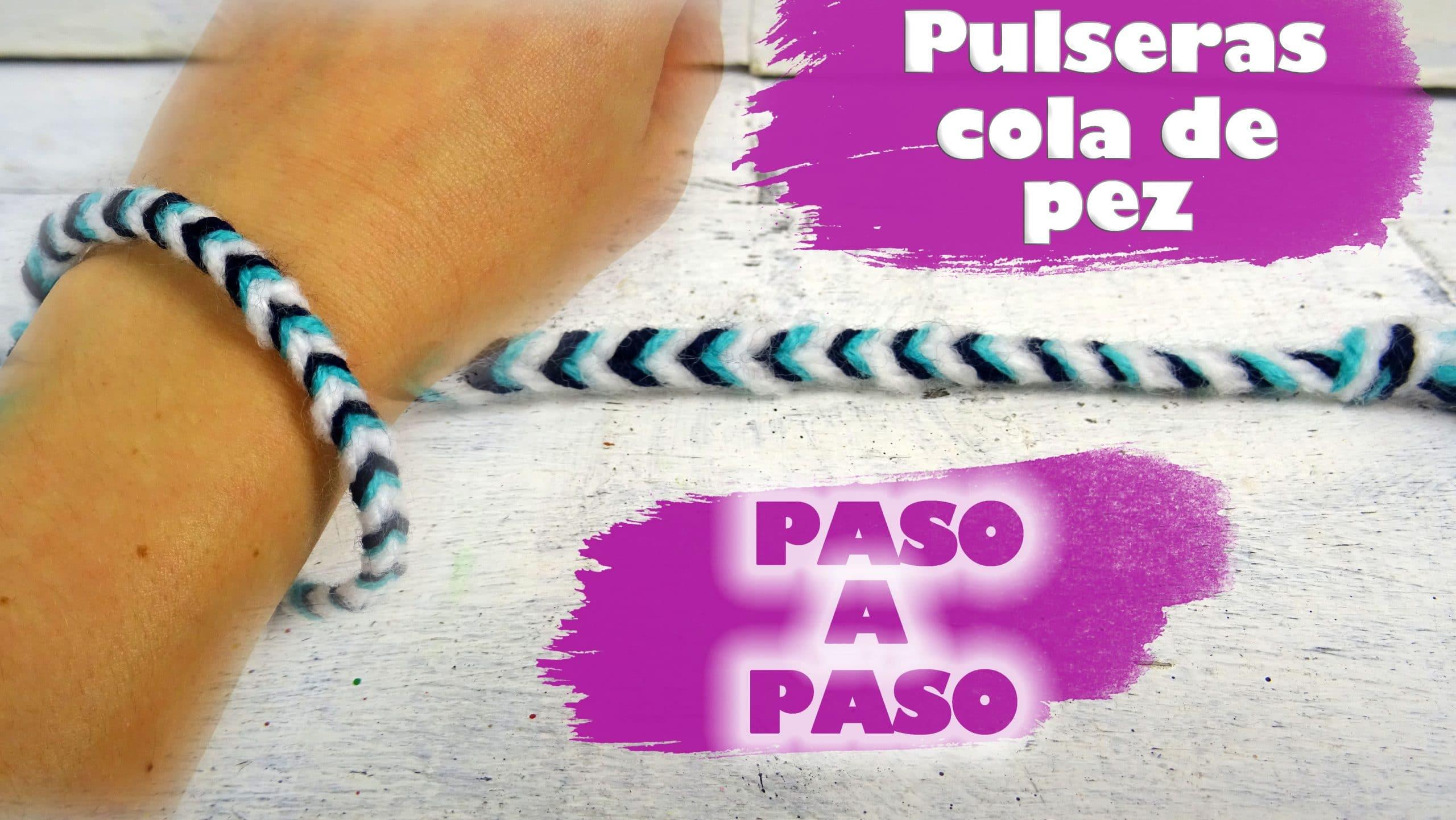 f9ddeafc3d7e CÓMO HACER UNA PULSERA DE COLA DE PEZ O COLA DE SIRENA