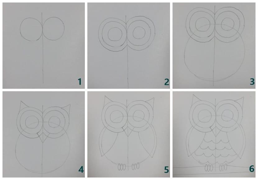 Cómo Dibujar Un Búho Con La Técnica Del Negativo En Tan Solo Seis