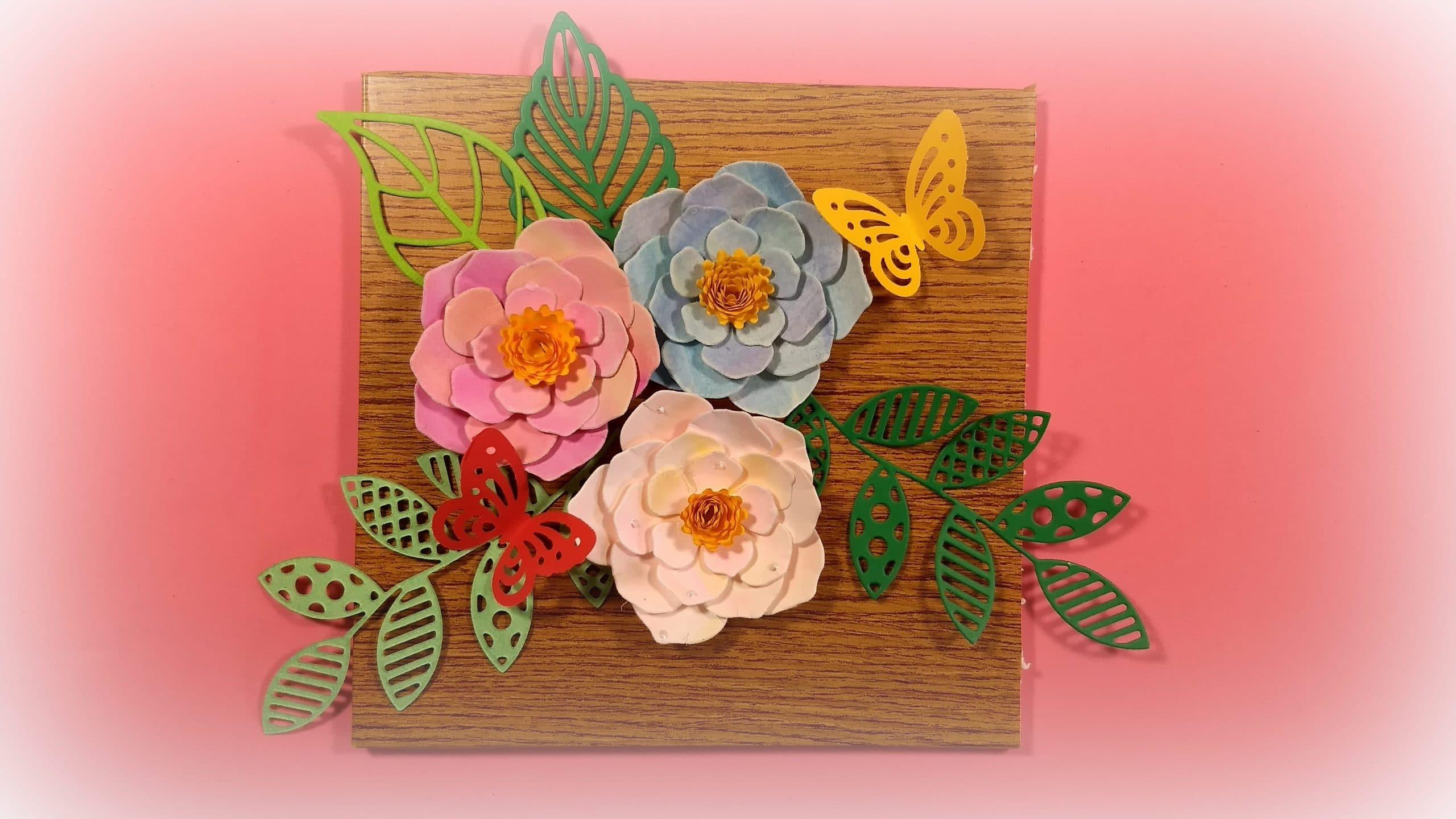 C mo hacer un cuadro de flores de papel para decorar tu - Como decorar una servilleta de papel ...