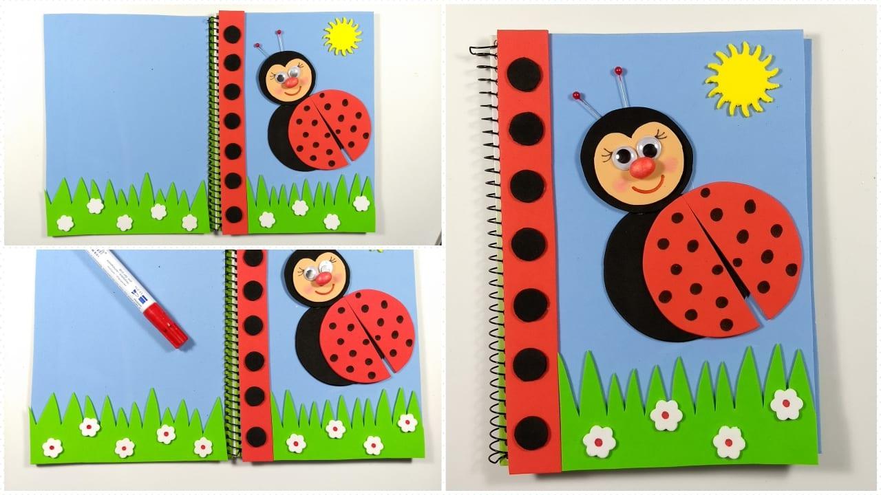 Cuaderno Decorado Con Goma Eva Para Niños