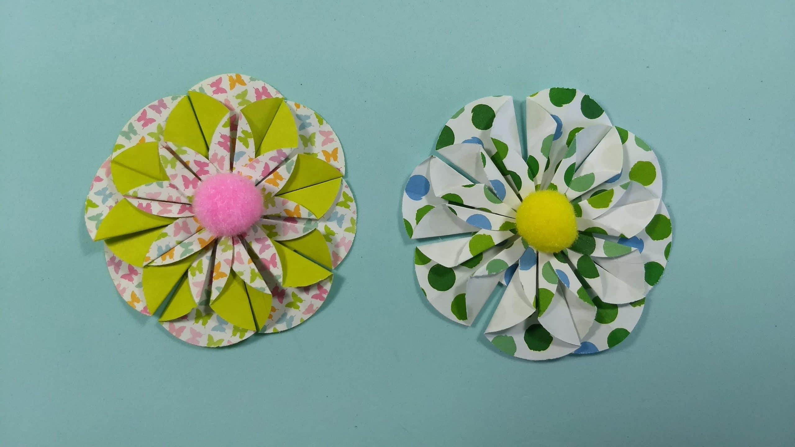 Cómo hacer flores de papel con círculos