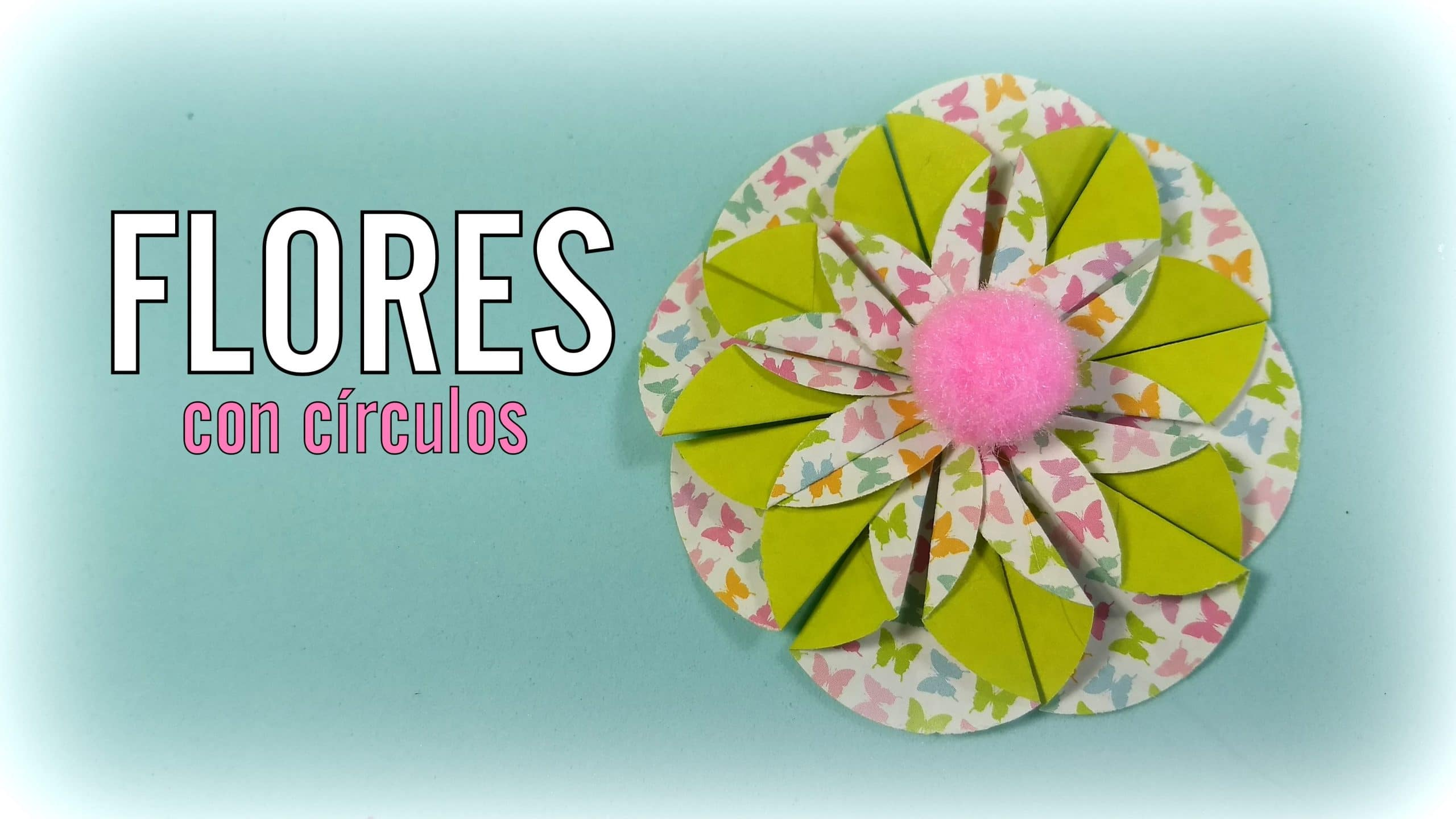 Cmo hacer flores de papel con crculos