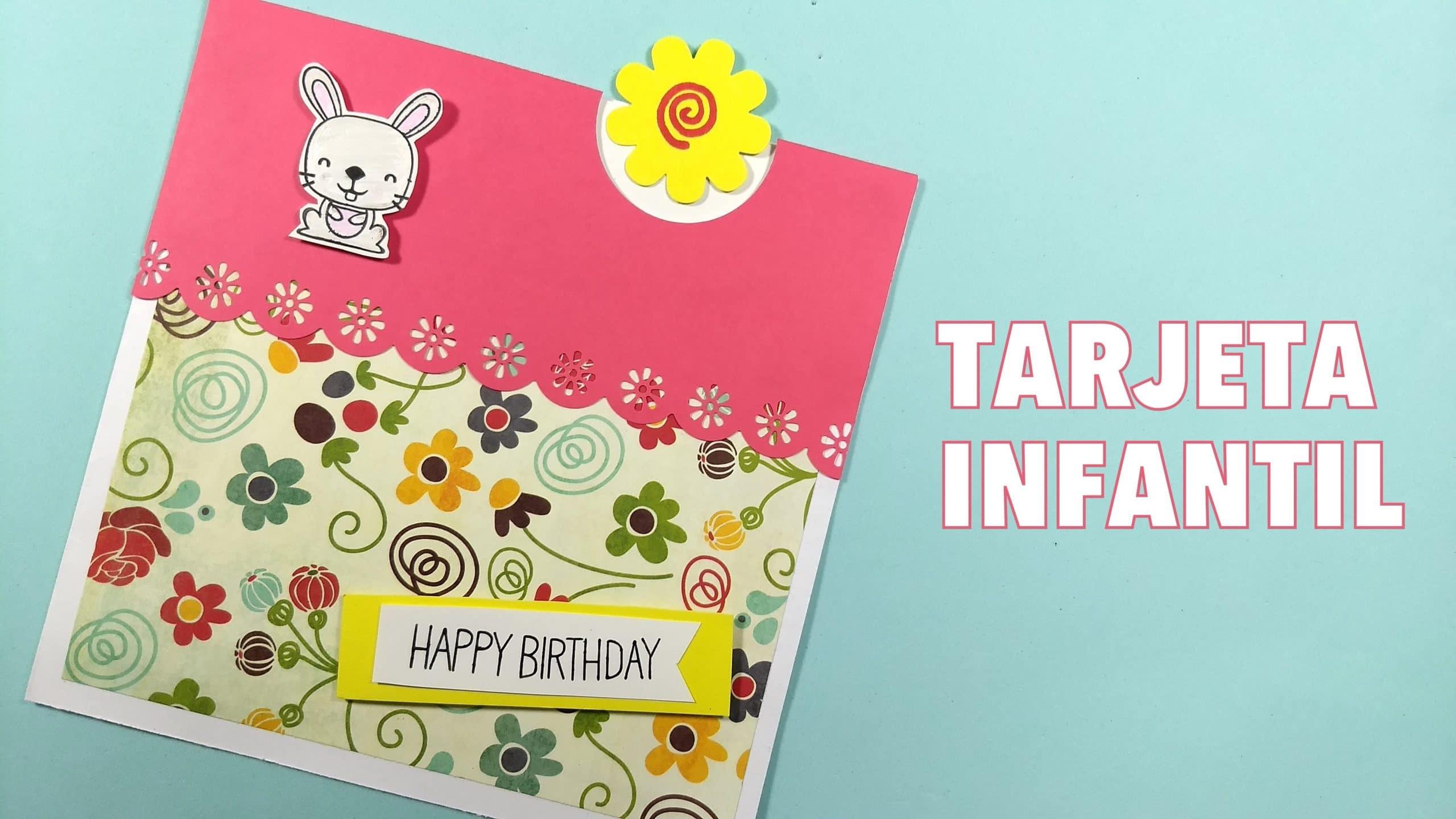 Tarjeta Invitación De Cumpleaños Infantil