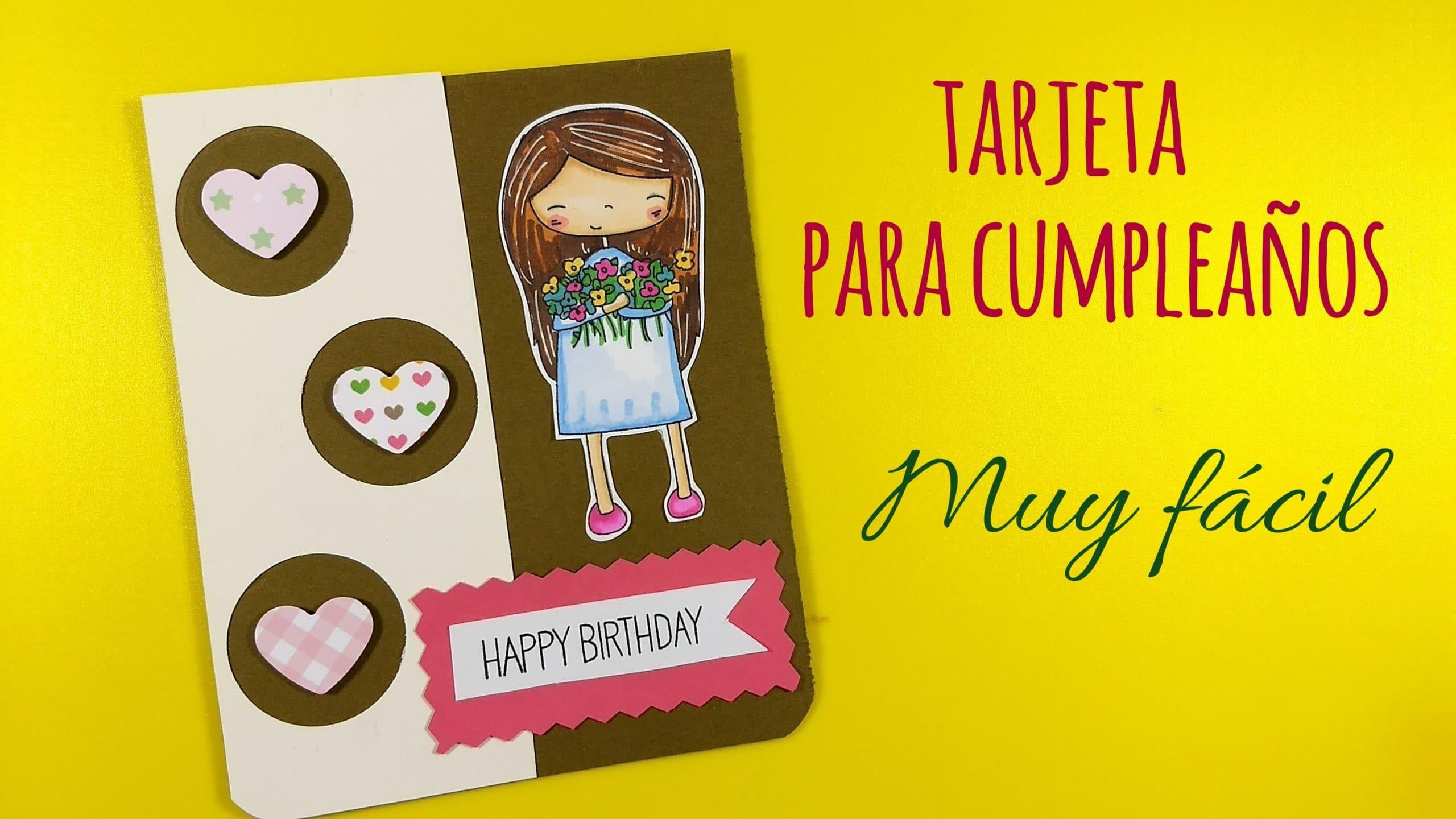 Tarjeta De Felicitación Infantil Para Cumpleaños