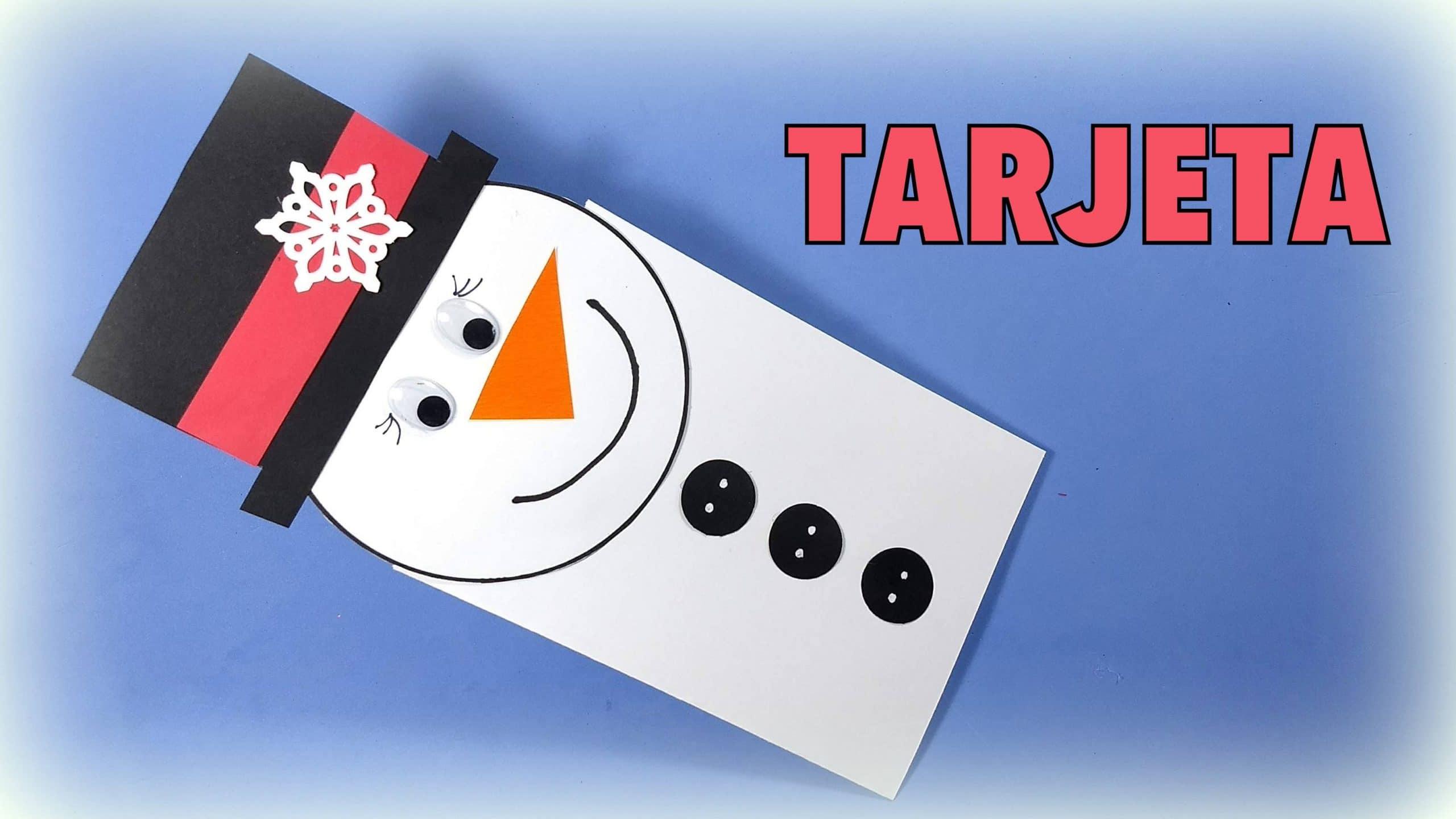 Muñeco de nieve tarjeta