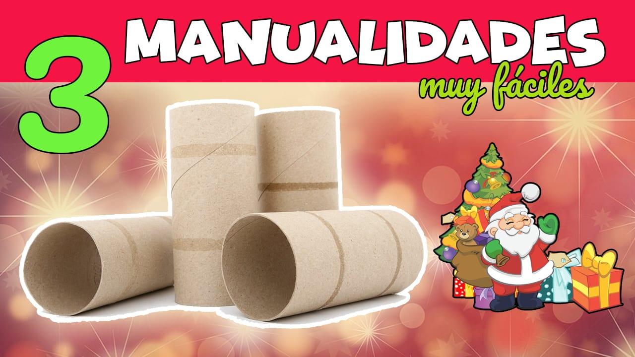 Ideas De Dibujos Para Navidad.3 Manualidades Para Navidad Con Tubos De Papel Higienico