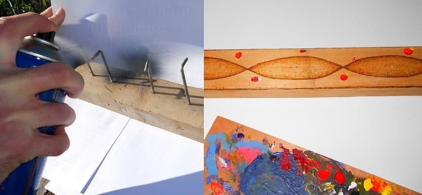 Manualidades con pinturas y maderas