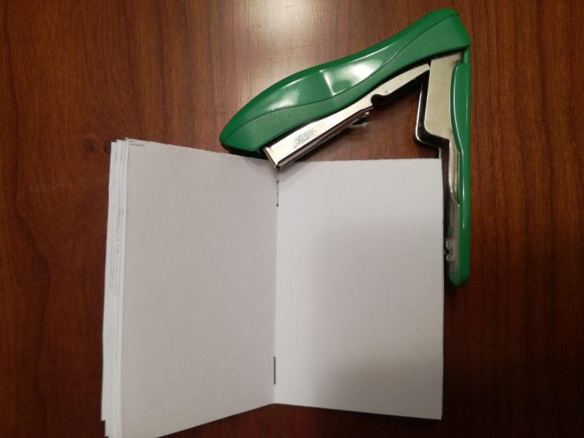 manualidad libreta de notas