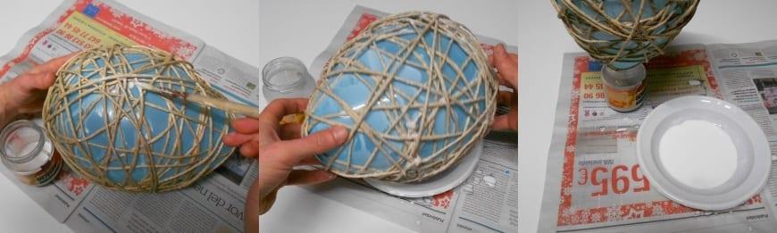 Cómo hacer una lámpara de hilos y manualidades