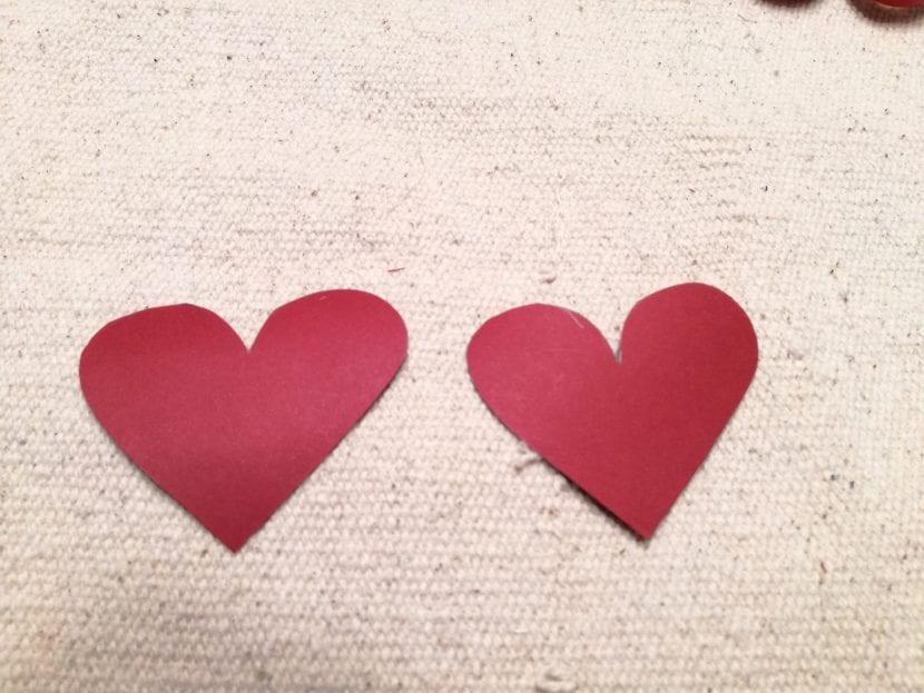 Paso 2 marcapáginas corazón