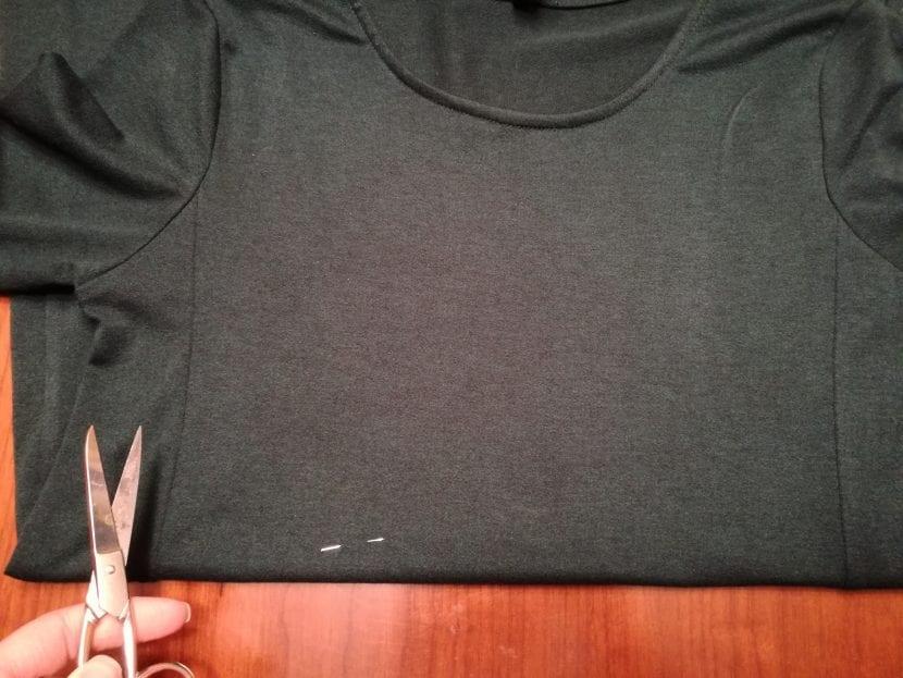 Paso 1 reciclar vestido ancho