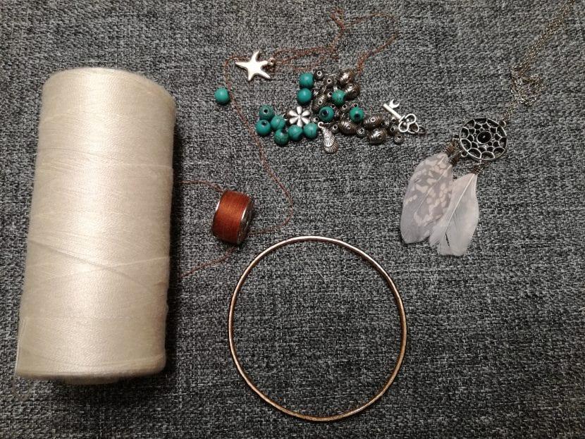 materiales para atrapasueños