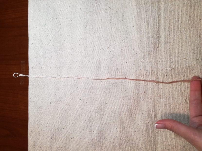 hilo central pluma macramé