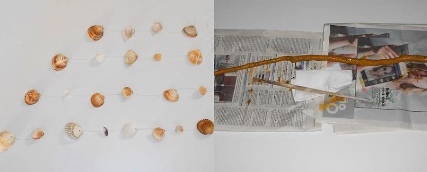 Manualidades de decoración para el hogar con conchas de mar