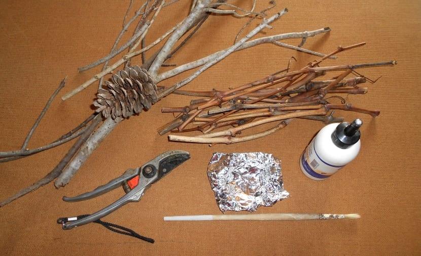 manualidades con ramas de árboles