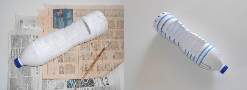 Manualidad con botella de plástico