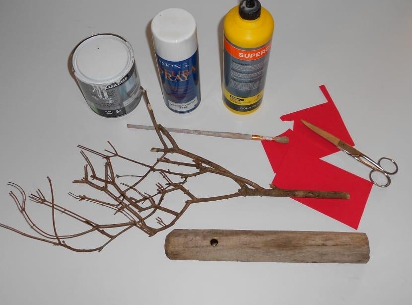 materiales para hacer un árbol de manualidades