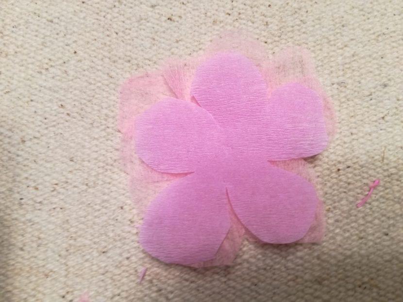 Flores de cerezo paso 4