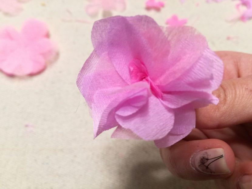 Flores de cerezo paso 7