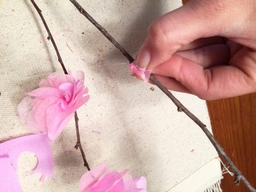 Flores de cerezo paso 9