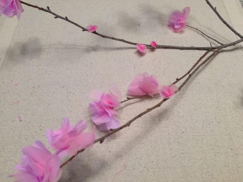 flores de cerezo DIY