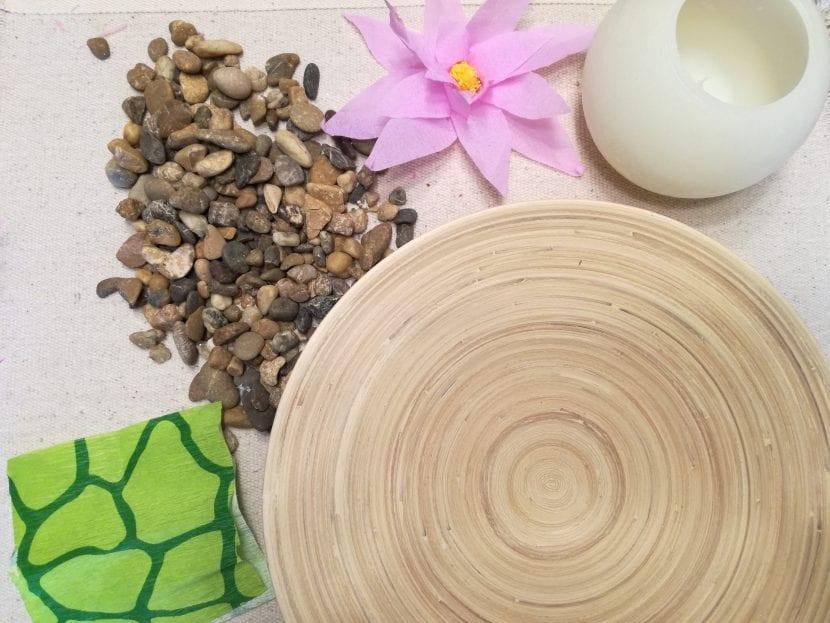 materiales centro de mesa