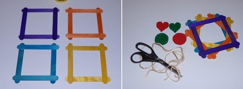 cómo hacer manualidades con palos de helado para decorar