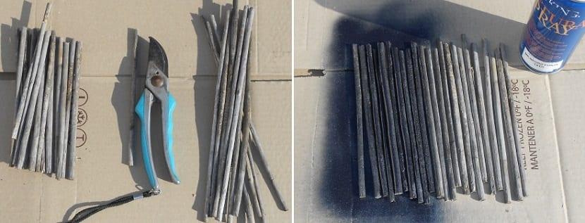 cómo realizar una maceta con palos para decorar