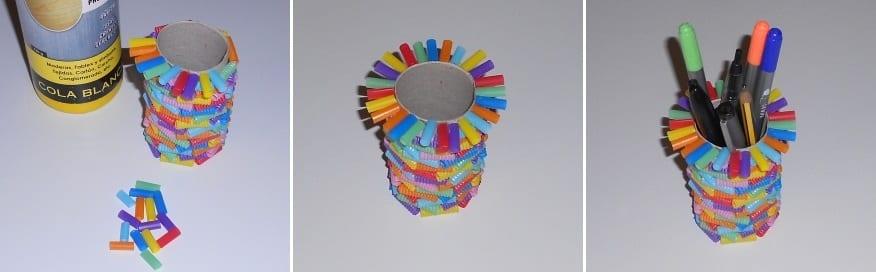 Cómo hacer un lapicero con materiales reciclados