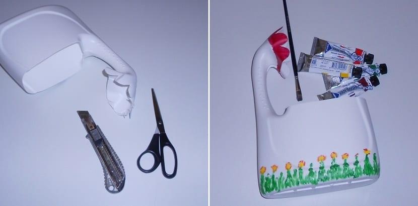 manualidades reciclando botellas de plástico