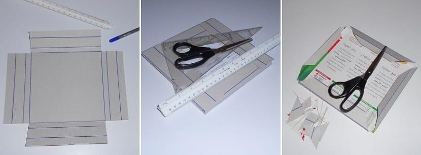 proceso para hacer un marco de fotos con materiales reciclados que se pueden encontrar por casa