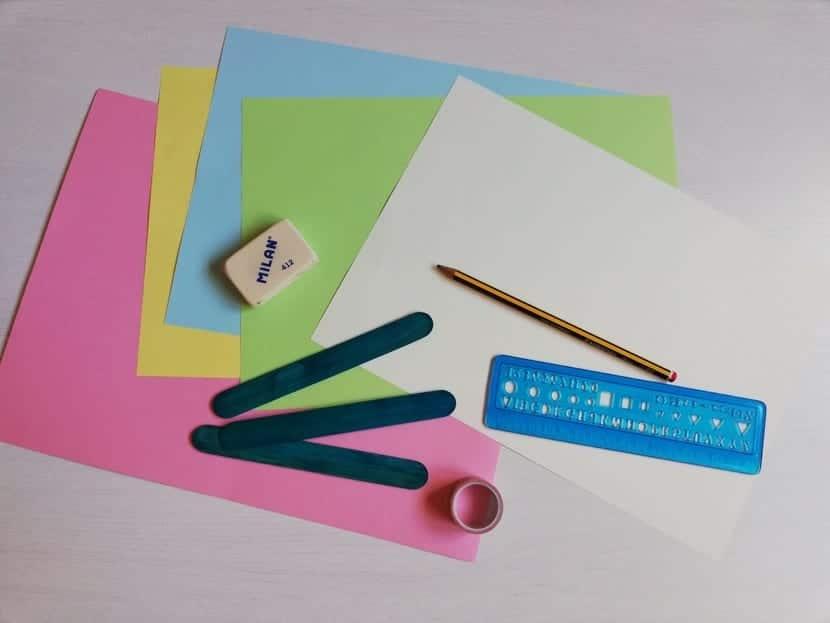 materiales para tarjeta de dientes de leon