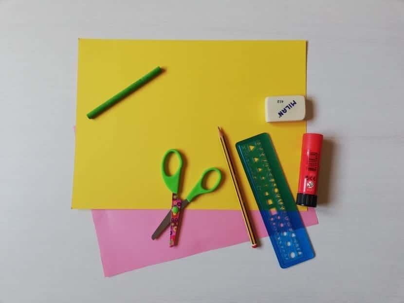 materiales para hacer margarita de papel