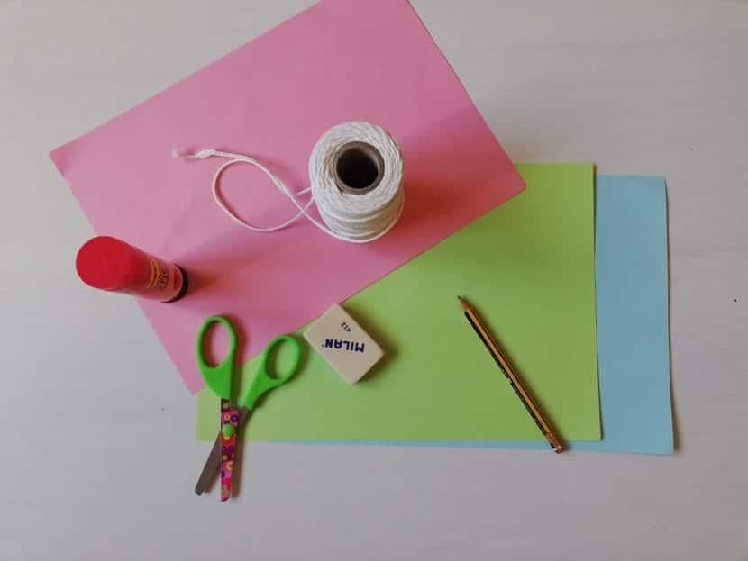 materiales mariposa de papel