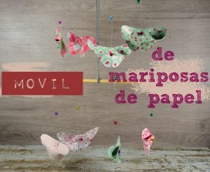 Movil de mariposas de papel
