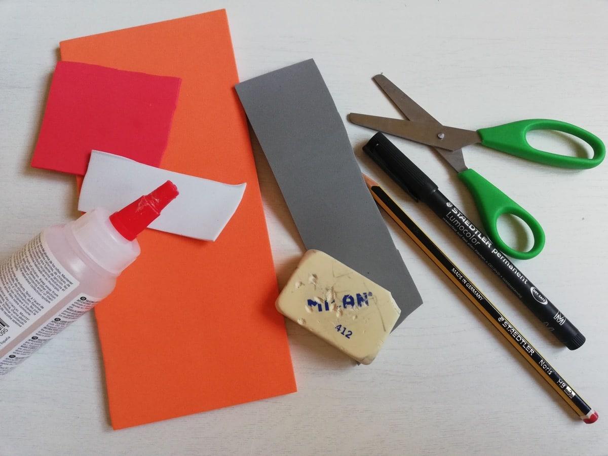 materiales para hacer la manualidad