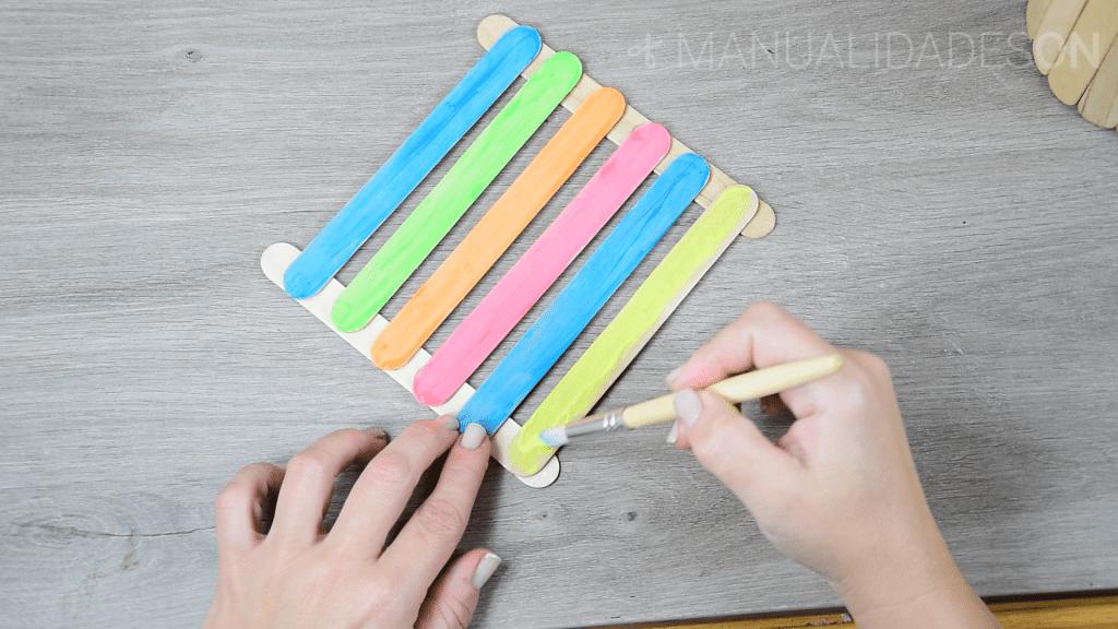 manualidades con palitos de helado
