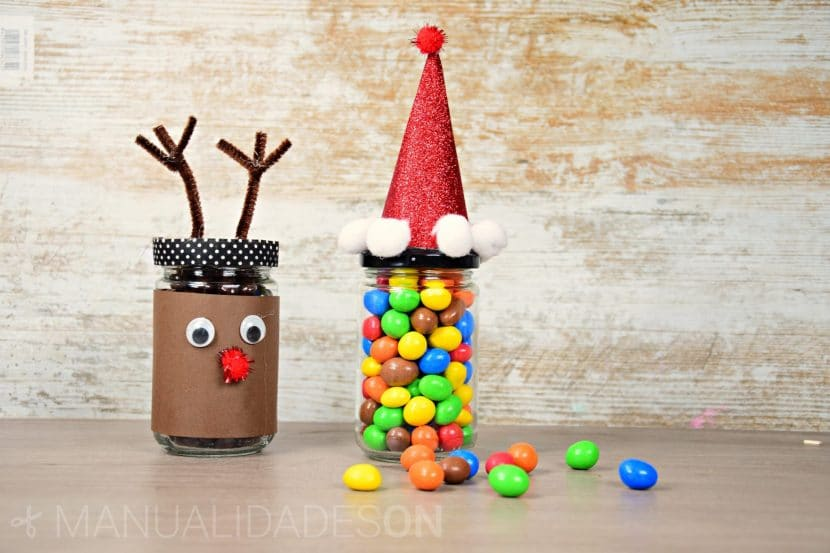 Tarros de cristal para Navidad y rellenarlos de caramelos