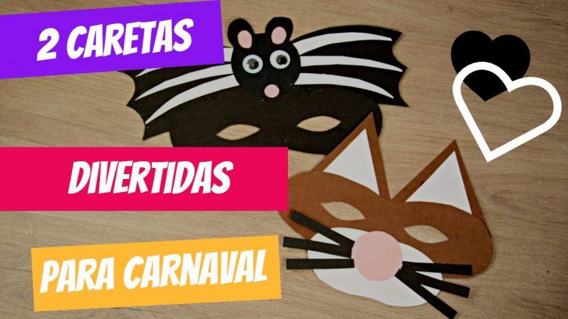 2 caretas divertidas para Carnaval