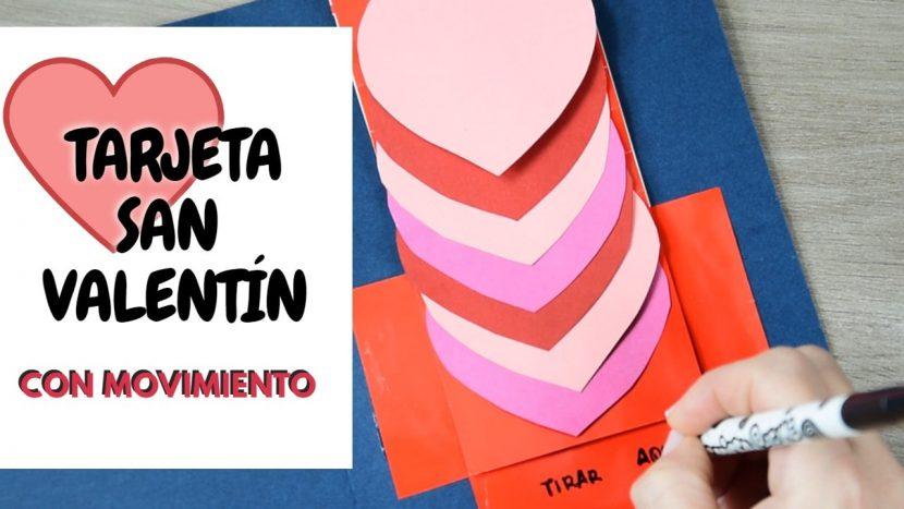 Tarjeta de San Valentín con movimiento