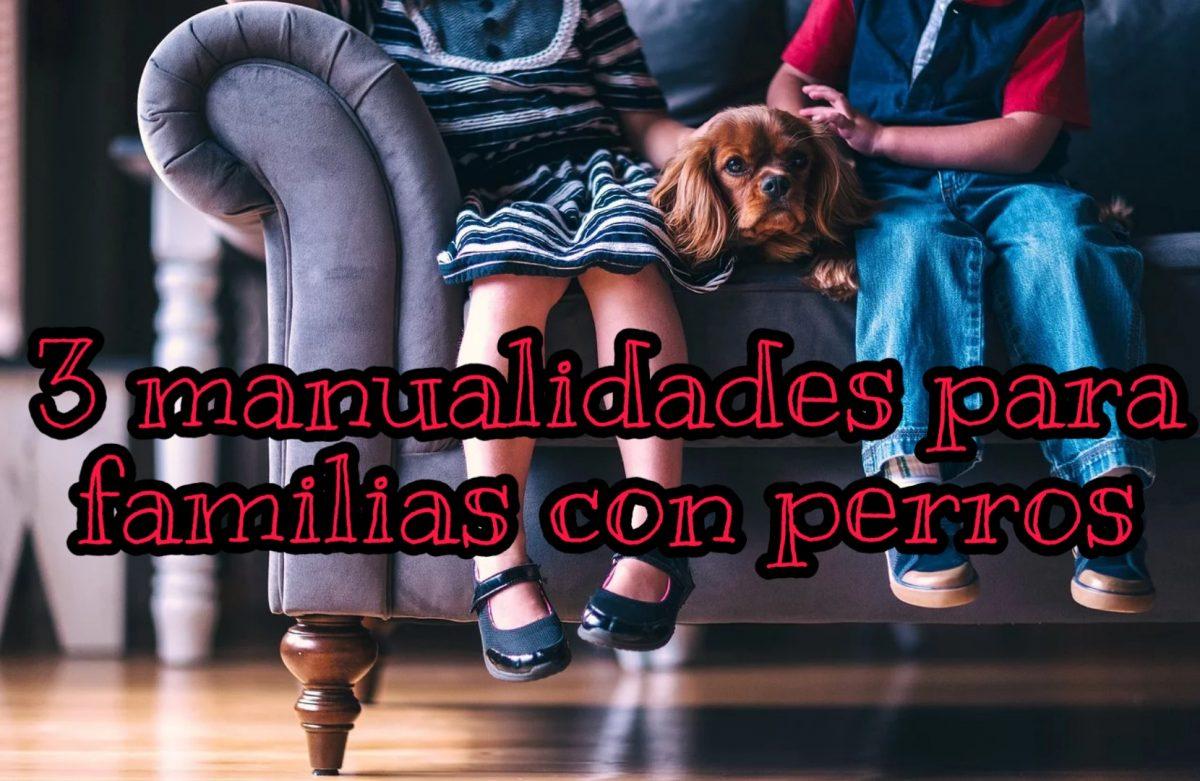 3 manualidades para familias con perro, perfectas para hacer con niños #yomequedoencasa