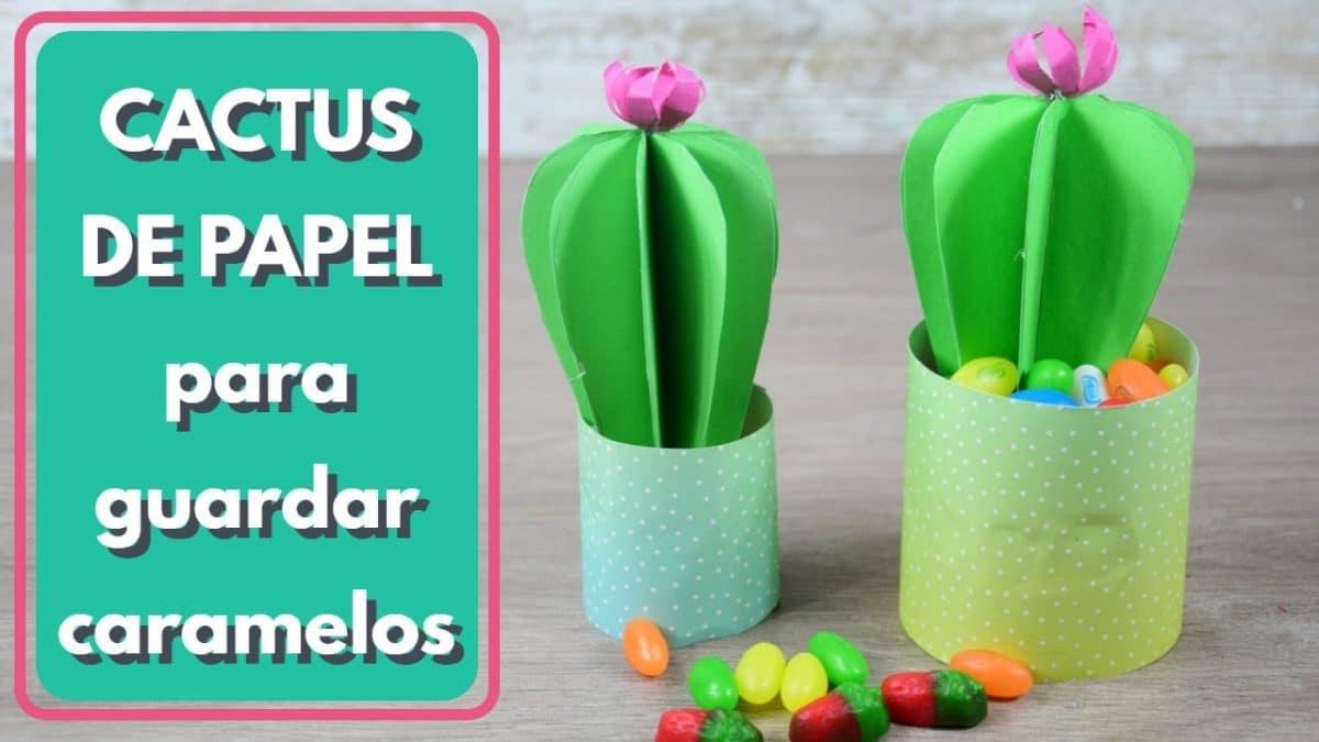 manualidad de cómo hacer un cactus